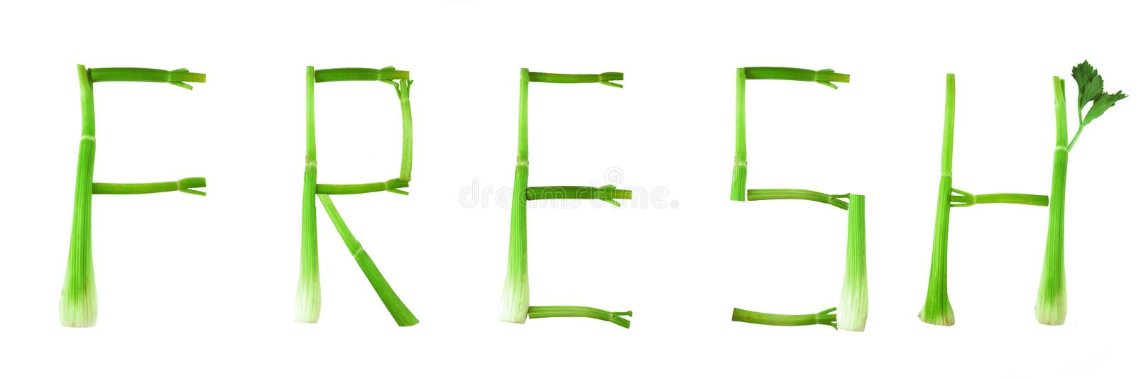 Fresh letters royalty free stock photos