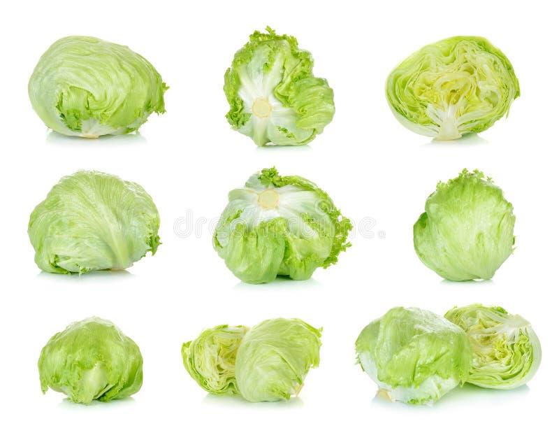 Fresh lettuce isolated on the white background royalty free stock photos