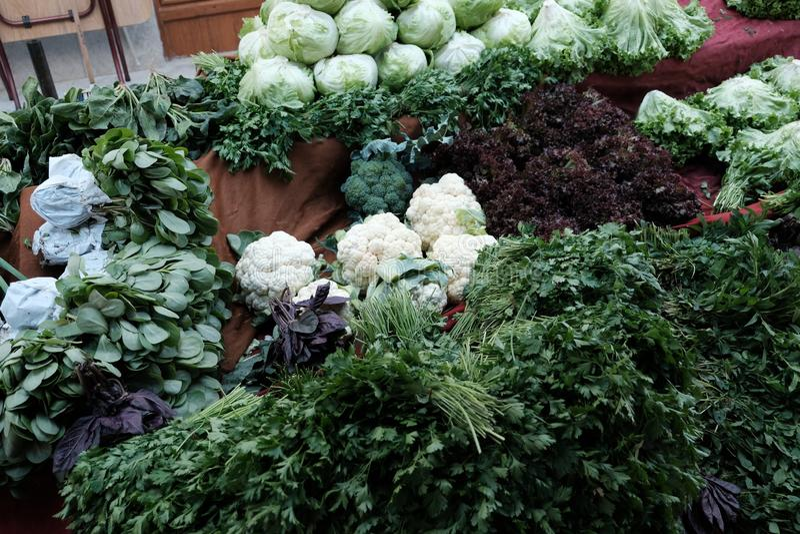 Fresh Lettuce Organic Farmers Market stock photos