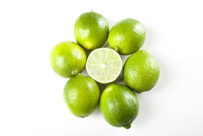 Fresh limes stock image