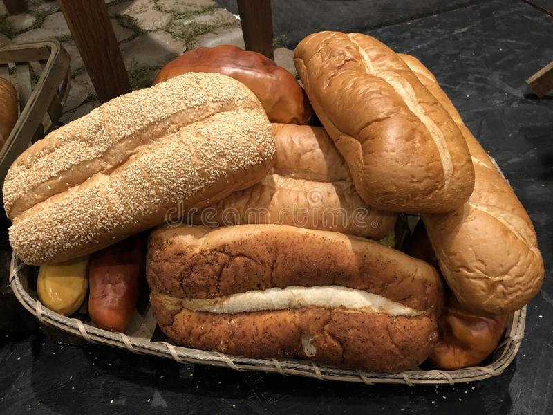 Fresh loaves of bread royalty free stock image