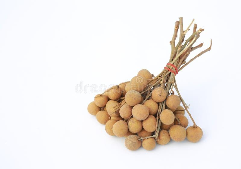 Fresh longan fruits isolated on white background royalty free stock image