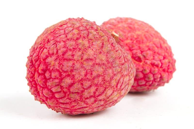 Fresh Lychee fruits close up royalty free stock image