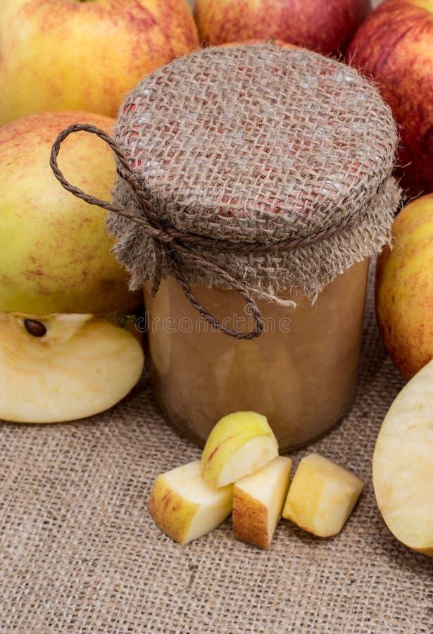 Fresh made applesauce stock photo