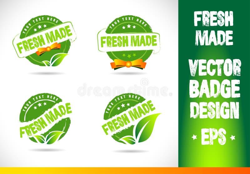 Fresh Made Badge Vector Logo vector illustration
