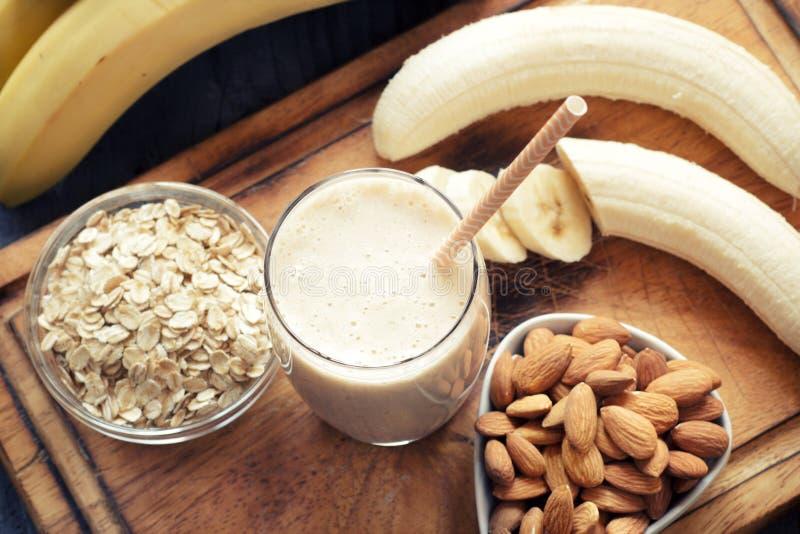 Fresh made Banana smoothie stock photo