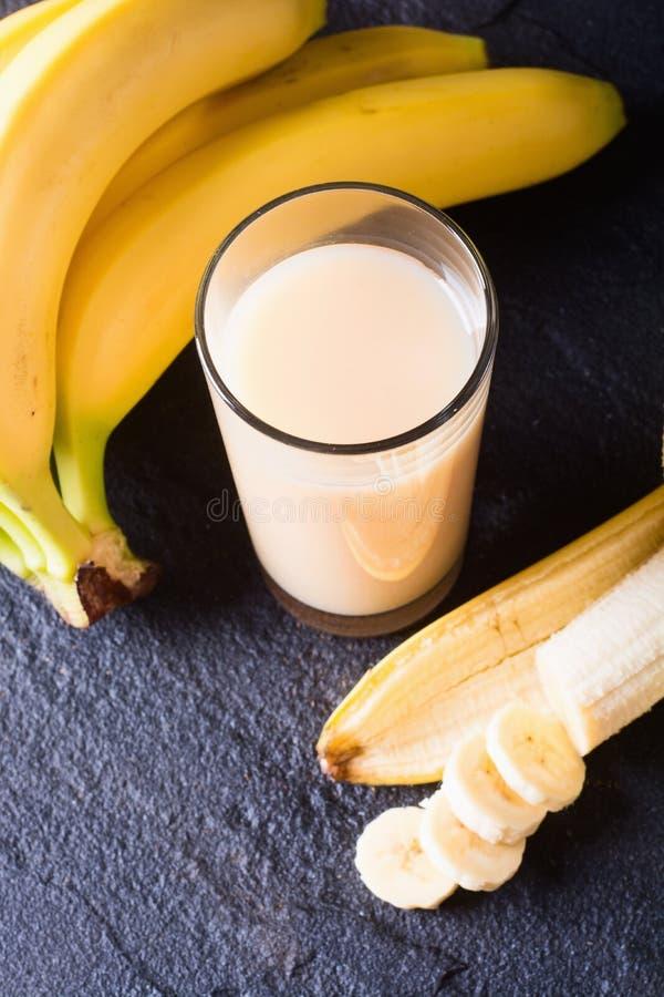 Fresh made Banana smoothie stock images