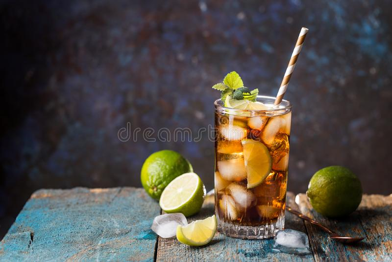 Fresh made Cuba Libre stock images