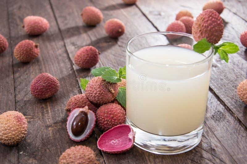 Fresh made Lychee Juice stock photos
