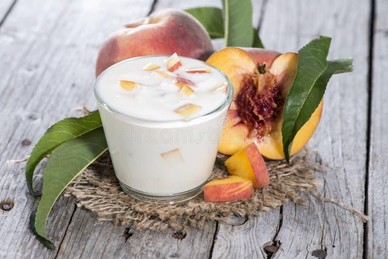 Fresh made Peach Yogurt stock photography