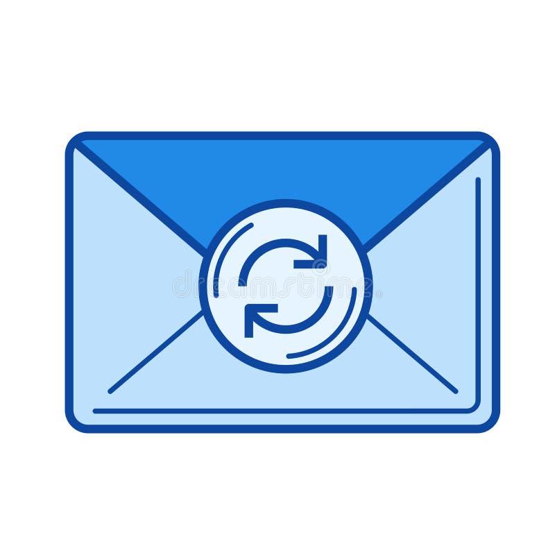 Fresh mail line icon. stock illustration