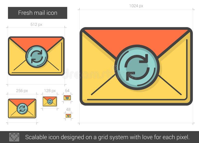 Fresh mail line icon. royalty free illustration