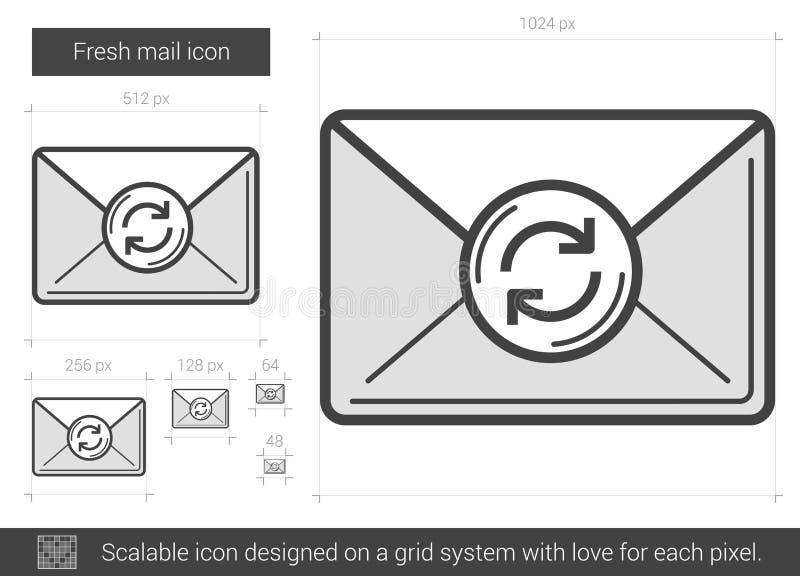 Fresh mail line icon. vector illustration