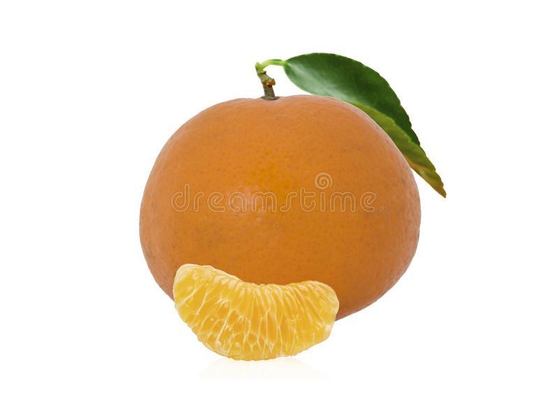 Fresh Mandarin on white backgrond royalty free stock photo