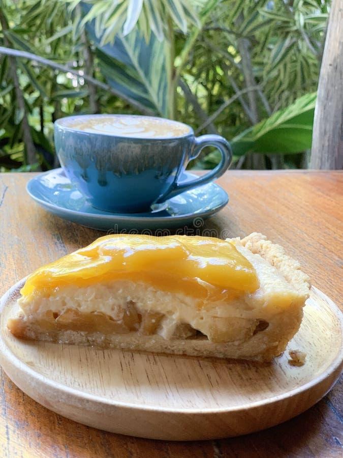 Fresh Mango Pie with Apples royalty free stock photos