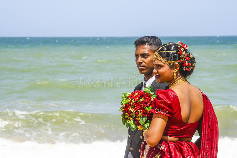 Fresh married couple stock photos