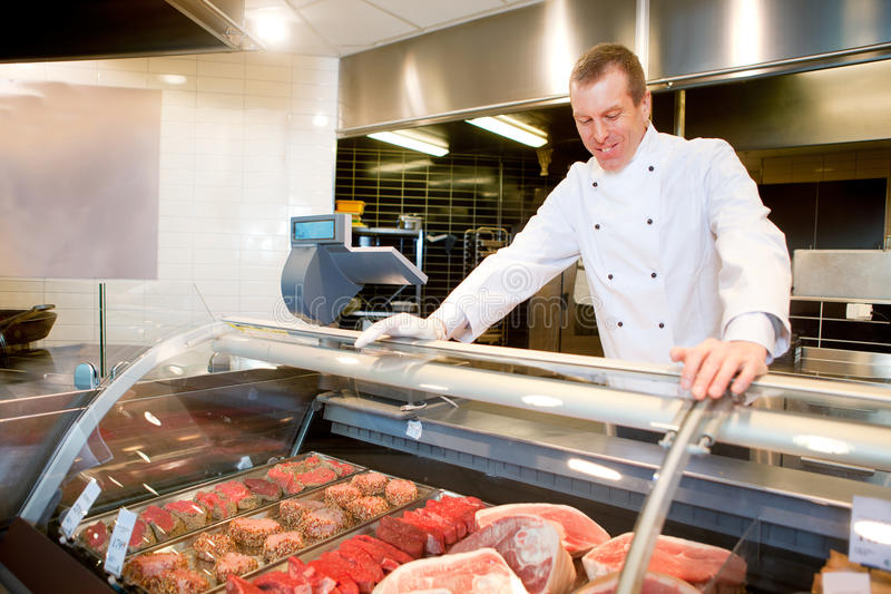 Fresh Meat Counter stock photography