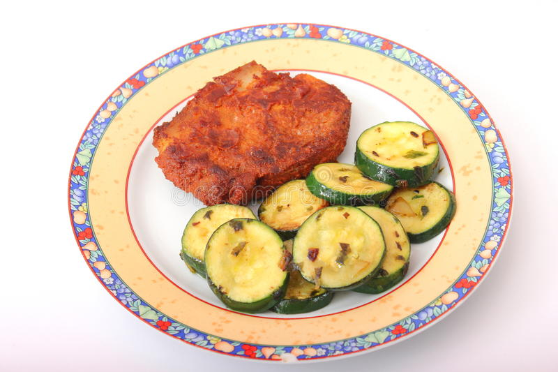 Download Fresh meat with zucchini stock photo. Image of meal, pork - 39787084