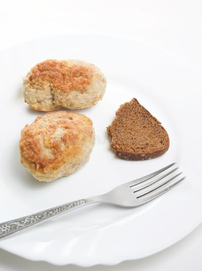 Download Fresh Meatloaf  With Fork On Plate Stock Image - Image: 16572165