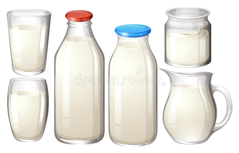 Fresh milk stock illustration