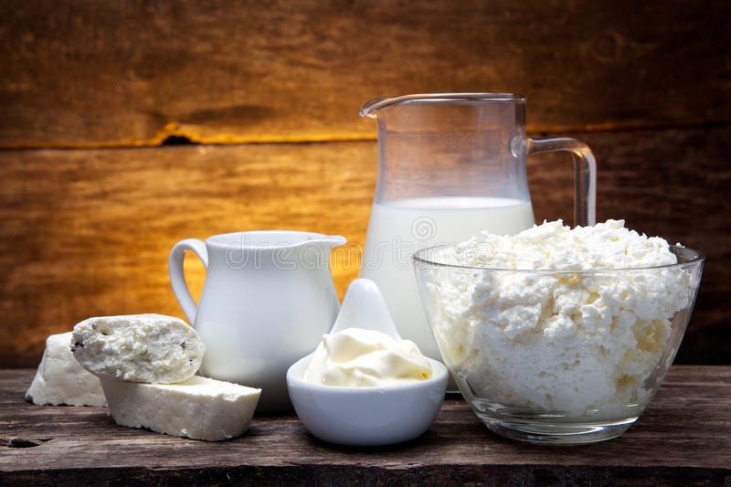 Fresh milk products royalty free stock photos