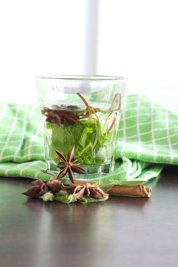 Fresh mint tea royalty free stock photos