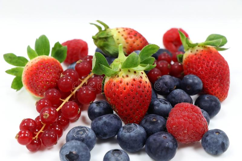Fresh mixed berries stock image