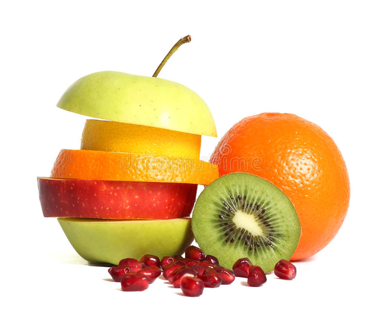 Fresh mixed fruit diet royalty free stock photography