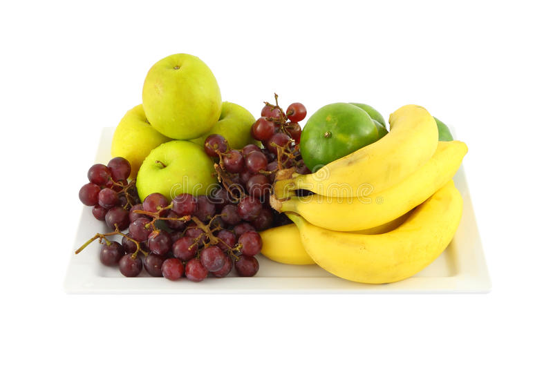 Download Fresh mixed fruit in plate stock photo. Image of fresh - 26807484