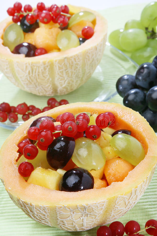 Fresh mixed fruit salad royalty free stock photography