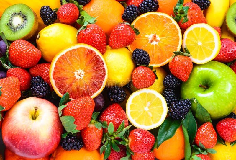 Fresh mixed fruits. royalty free stock image