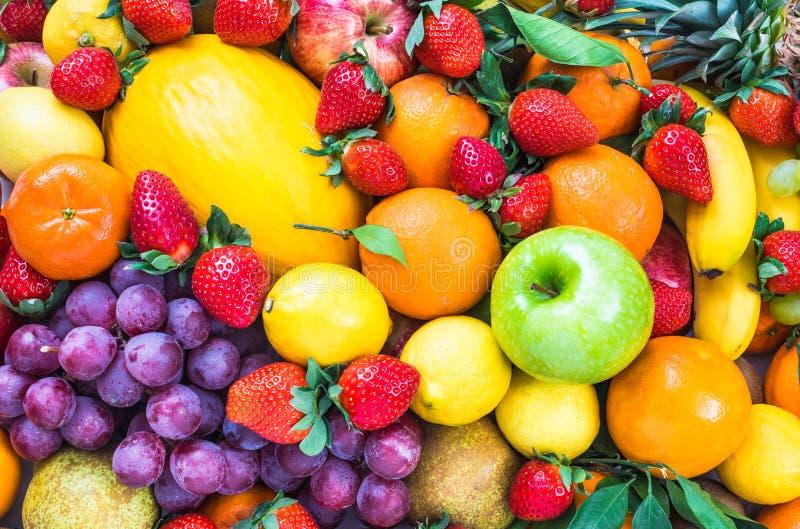 Fresh mixed fruits. royalty free stock photography