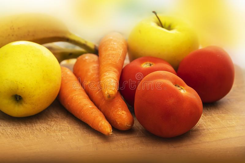 Fresh Mixed Fruits With Vegetables Healthy Food.1 stock photo