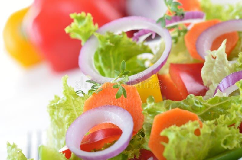 Fresh mixed salad stock photos