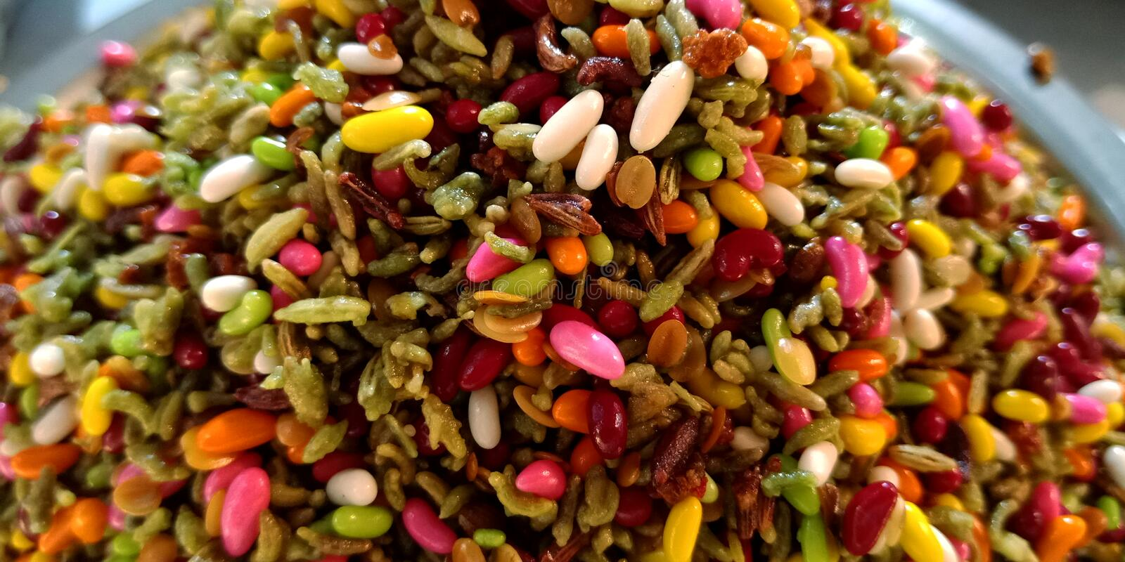 Fresh multicolored masala spice ingredients for making betel leaf royalty free stock photos