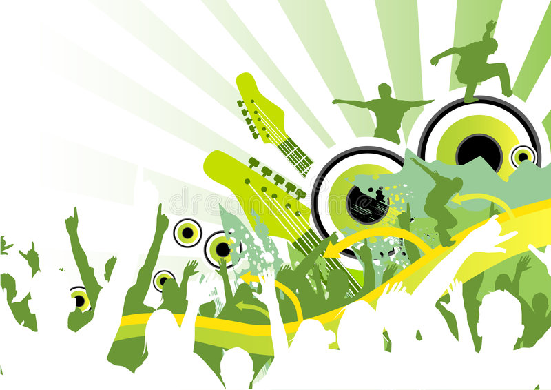 Fresh Music Jump stock illustration