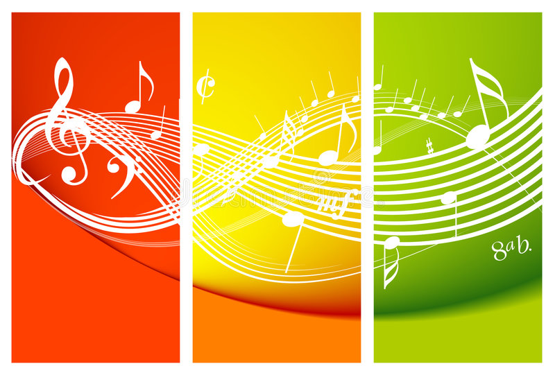 Fresh music theme stock illustration