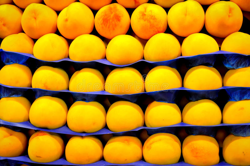 Fresh natural apricot on the market stock image