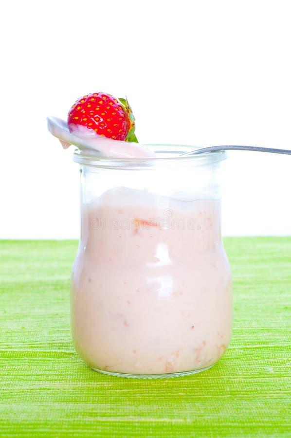 Fresh Natural Yoghurt Stock Photography