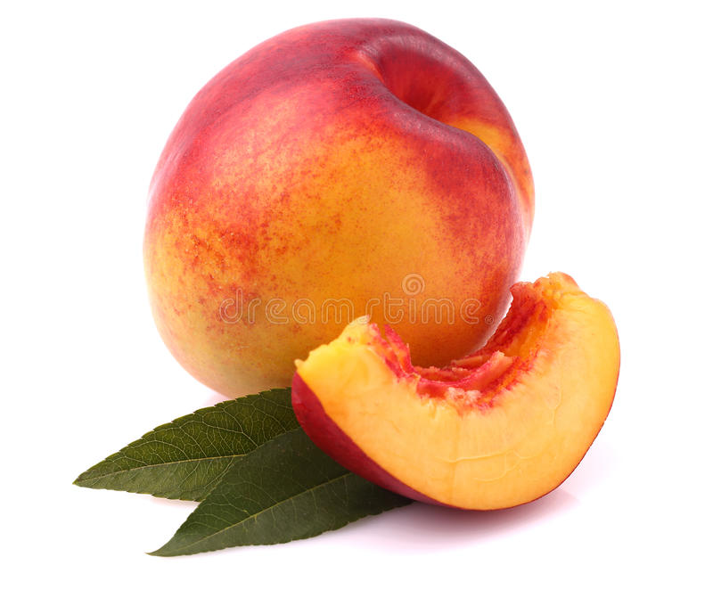 Fresh nectarine royalty free stock photos