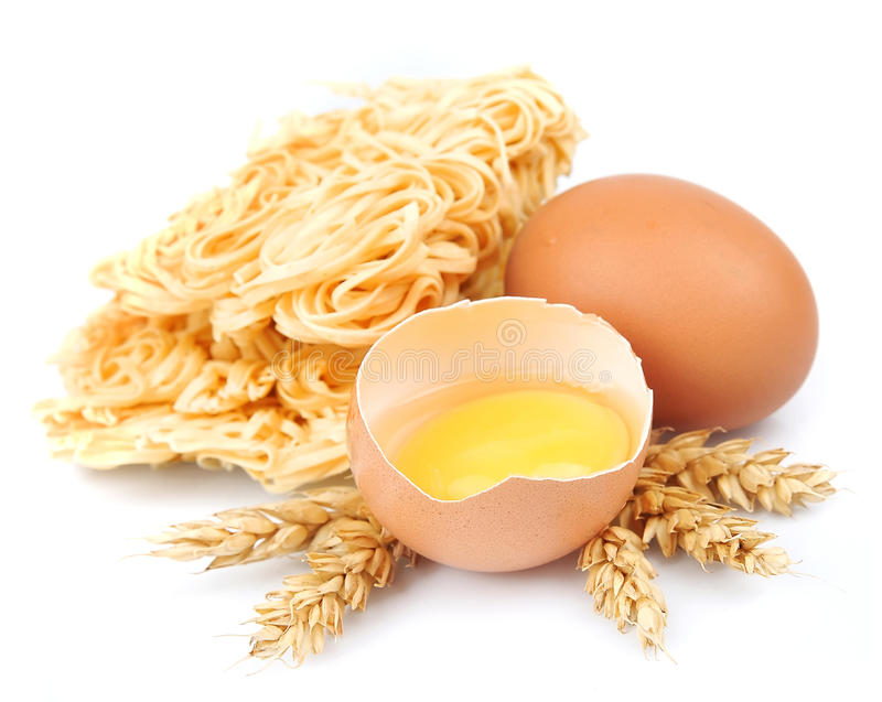 Download Fresh noodles with eggs stock image. Image of fresh, pasta - 26212823