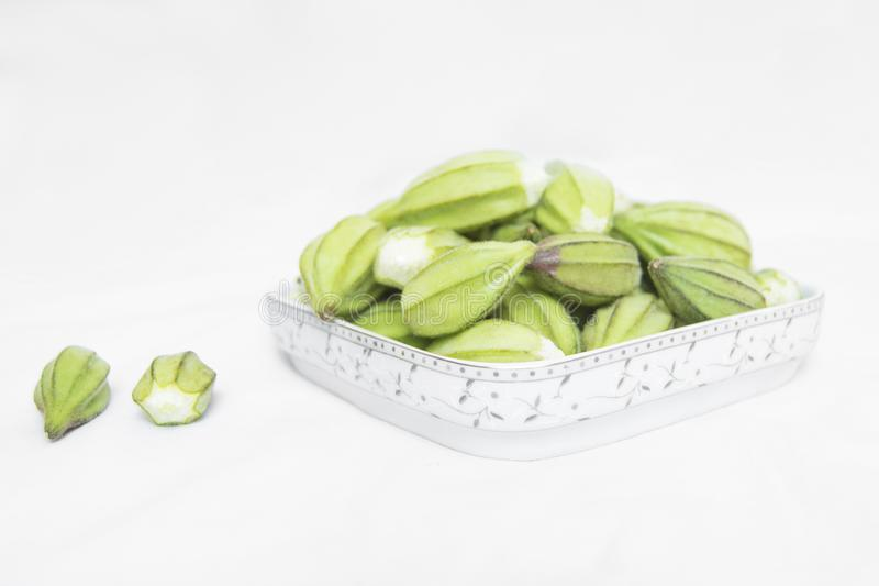 Fresh okra stock images