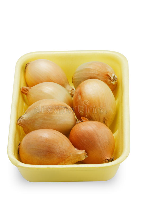 Fresh Onions (with Clipping Path) Royalty Free Stock Photos