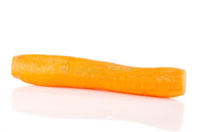 Fresh orange carrot  on white stock image