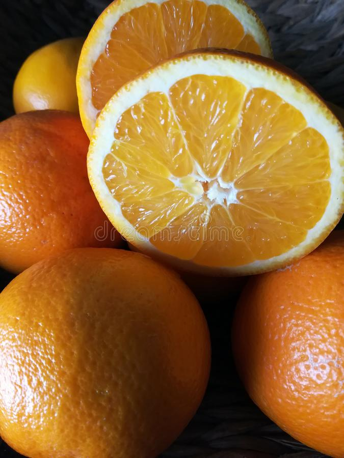Fresh orange fruit royalty free stock photo