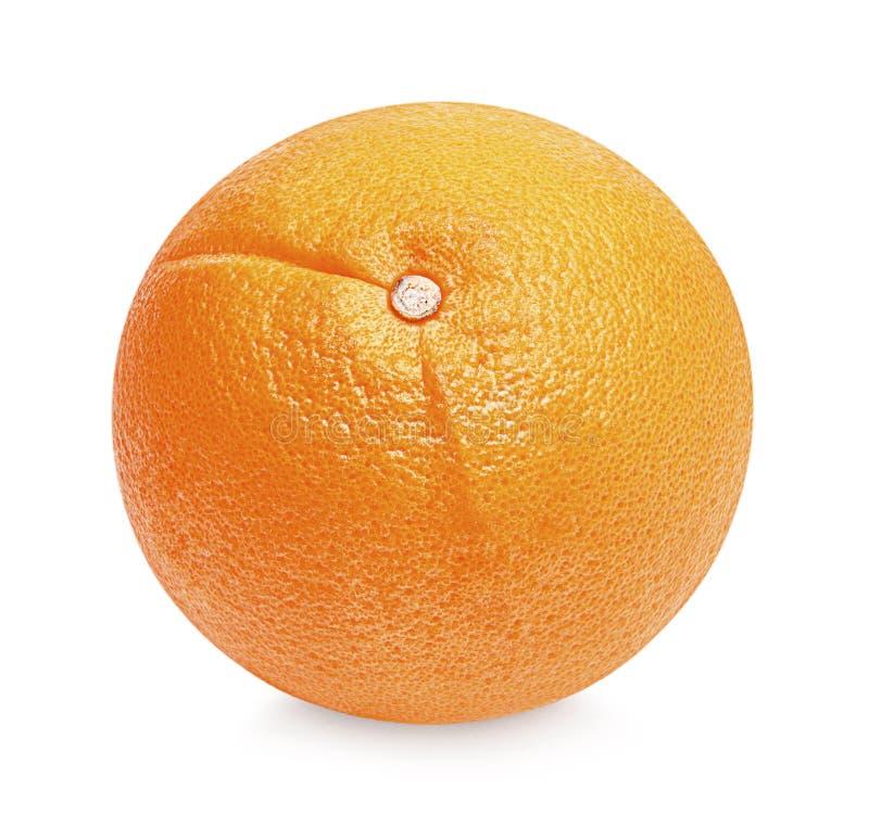 Fresh orange fruit isolated on a white background stock image