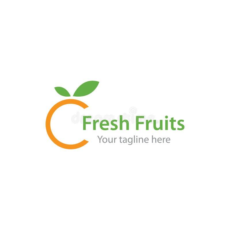 Fresh Orange fruit logo. Ilustration vector template, store, delicious, alcohol, vegetable, harvest, shop, nutrition, ripe, glass, tasty, lemonade, slice, eco stock illustration