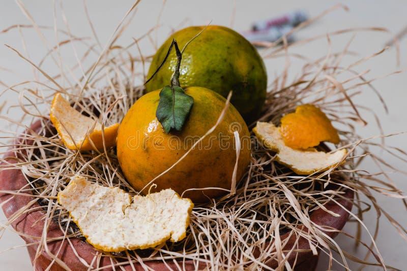 Fresh Orange fruits and pulp. Fresh Organic Orange fruits with pulp royalty free stock image