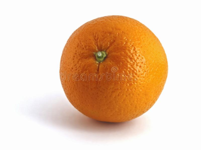 Fresh orange isolated royalty free stock photos