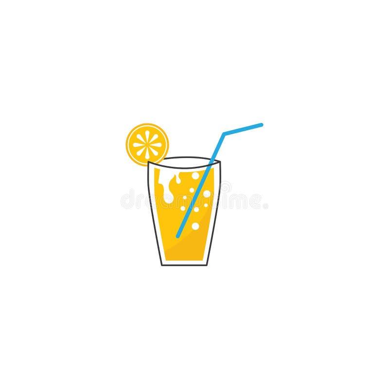 Fresh Orange juice. Ilustration vector template, store, delicious, alcohol, vegetable, harvest, shop, nutrition, ripe, glass, tasty, lemonade, slice, eco, plant stock illustration